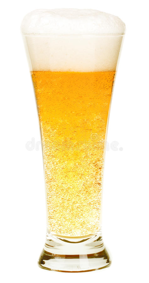 Beer. Isolated on white background stock photography