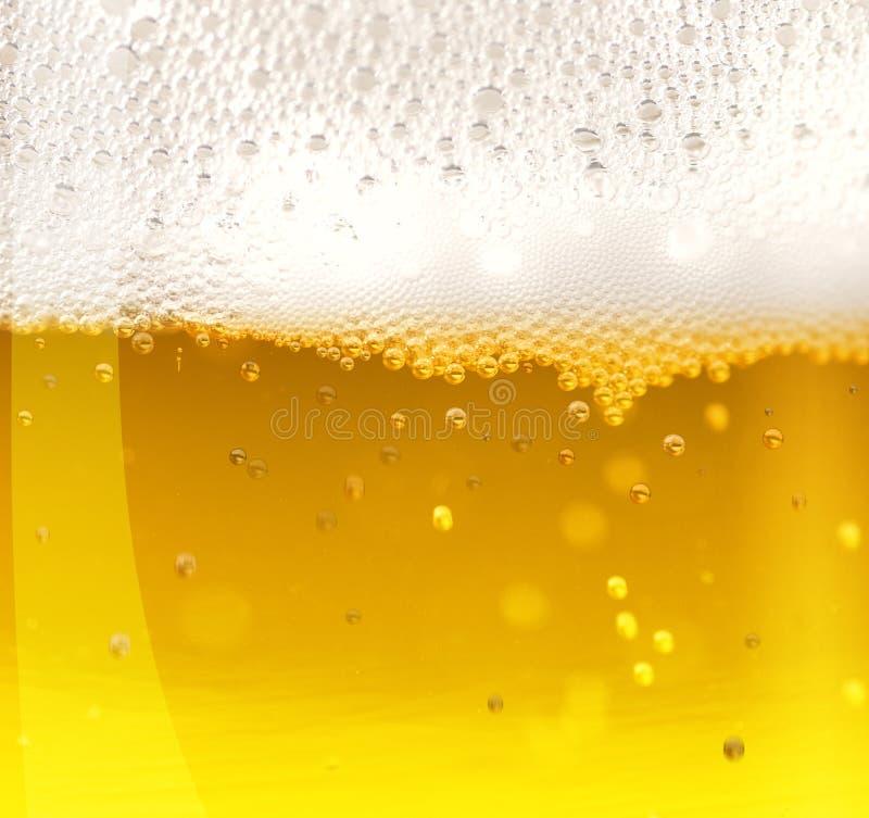 Beer. Golden beer detail in a glass