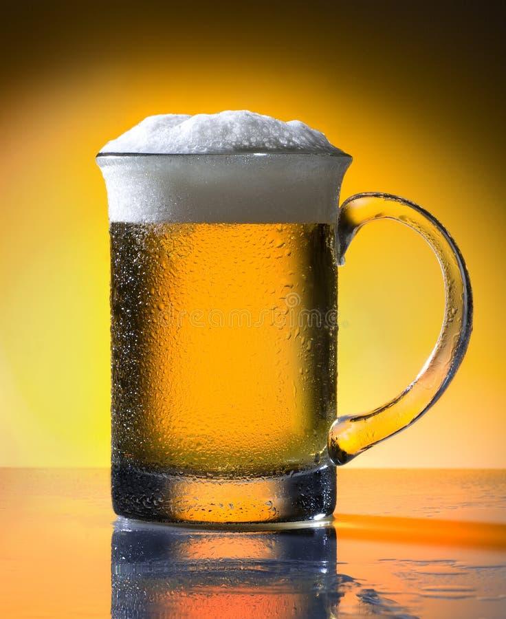 Beer. Detail of pint of beer stock image