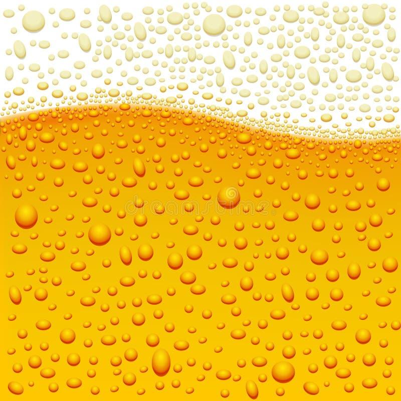 Beer. Vector background of beer bubbles