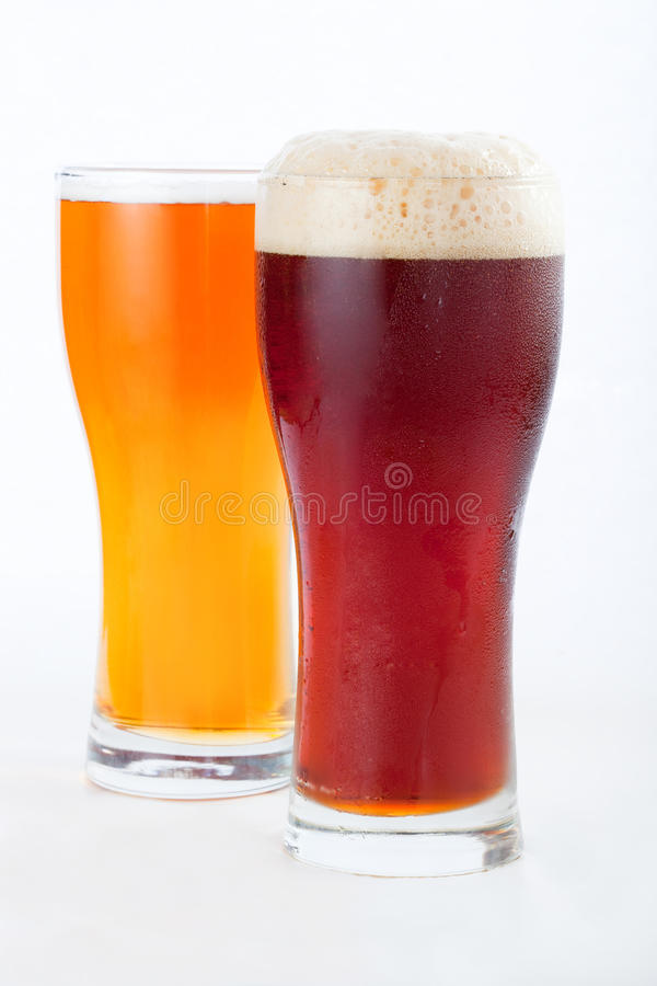 Beer. Glass isolated on a white background with a clipping path stock photo