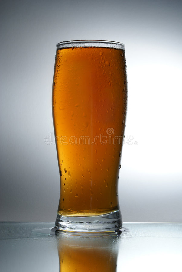 Beer. Cup of fresh tasty beer stock photos