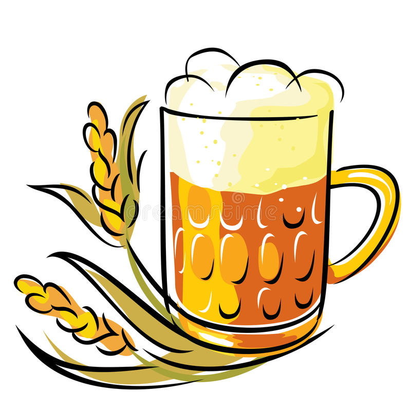 Download Beer stock illustration. Image of glass, liquid, ripe - 18659178