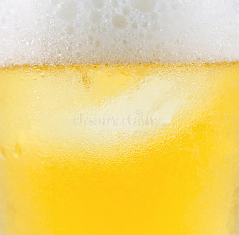 Beer. Close up image of glass of beer stock images