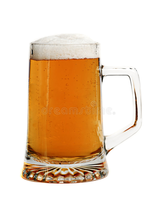 Beer. In a glass tankard royalty free stock image
