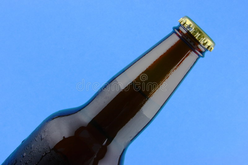 Download Brown glass beer bottle stock image. Image of object, gold - 5499765