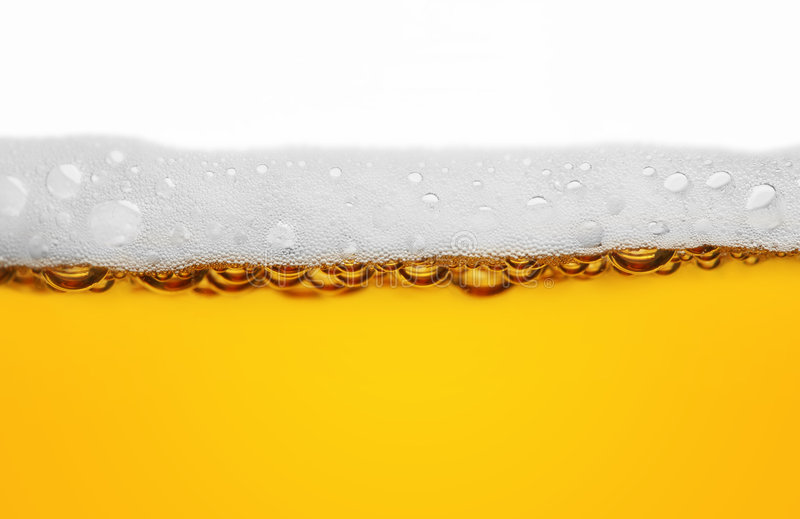 Beer. Close macro image of glass of beer royalty free stock images
