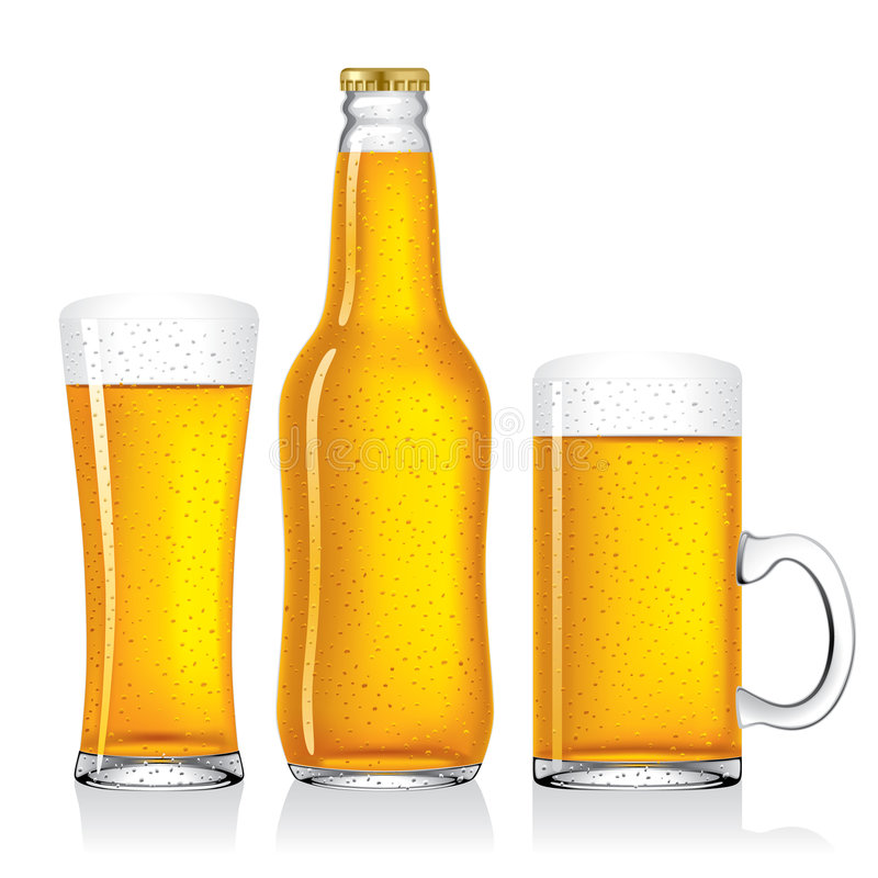 Beer. Isolated raster version of vector beer collection (contain the Clipping Path) There is in addition a vector format (EPS 8