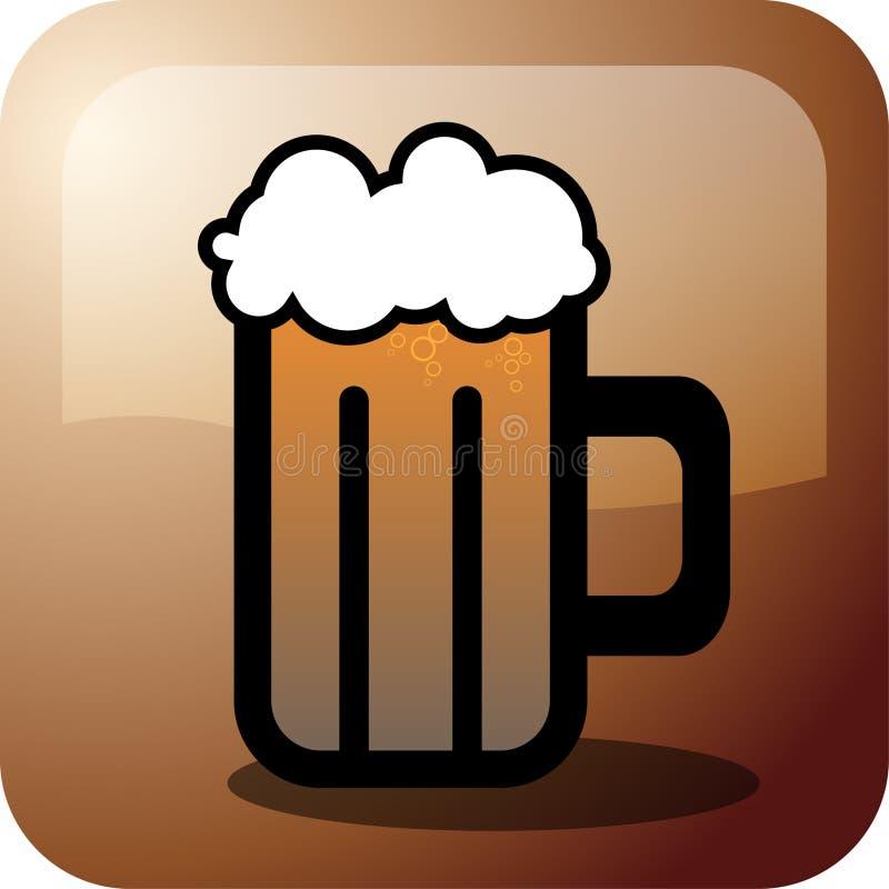 Download Beer stock vector. Illustration of drunk, restaurant, icon - 9689004