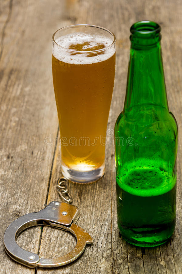 Beer addicted royalty free stock photography