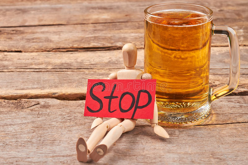 Beer addiction how to stop. stock photography
