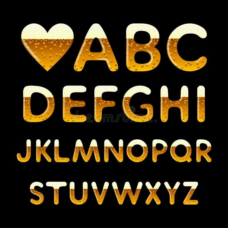 Beer alphabet royalty free illustration