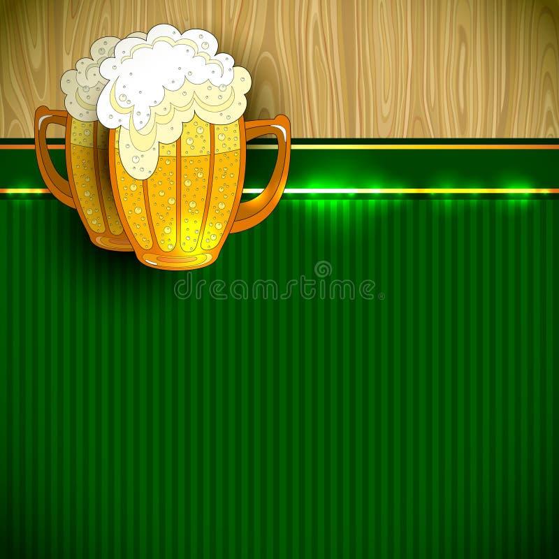 Beer background royalty free illustration