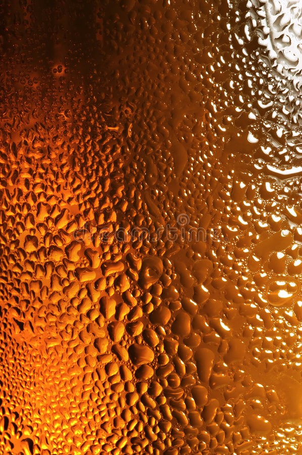 Beer background. Glass of beer with water drops royalty free stock image