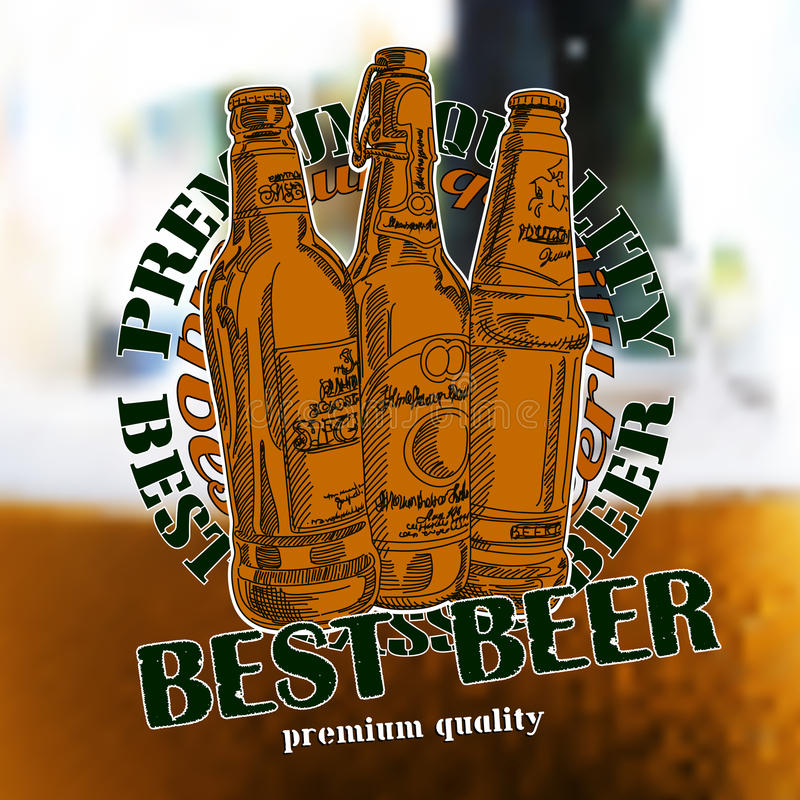 Beer background. Promotion of the best beer, this illustration can be used for your design stock illustration