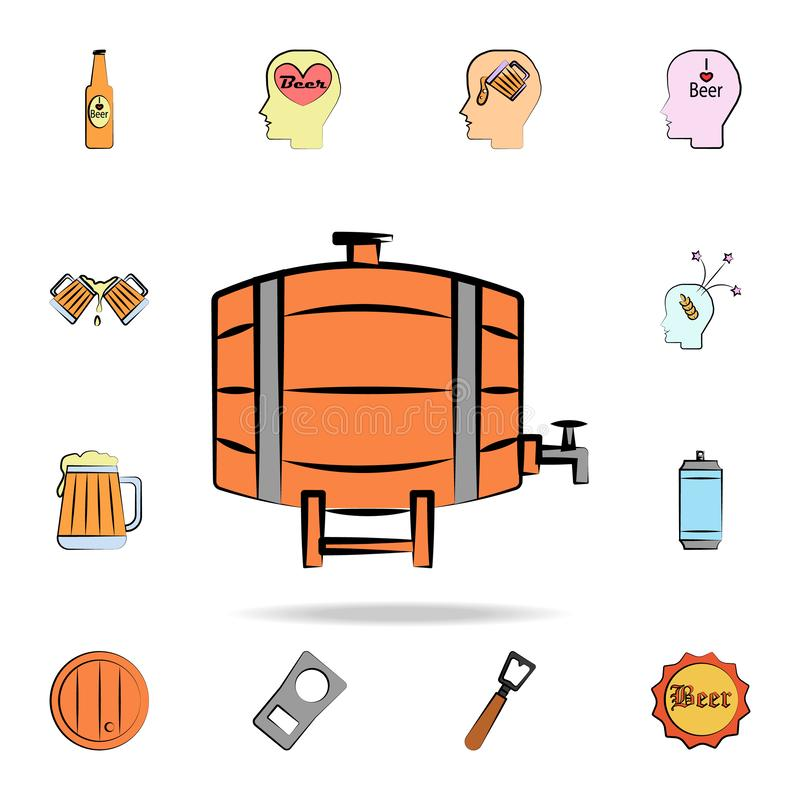 Beer Barrel colored sketch style icon. Detailed set of color beer in hand drawn style icons. Premium graphic design. One of the. Collection icons for websites royalty free illustration