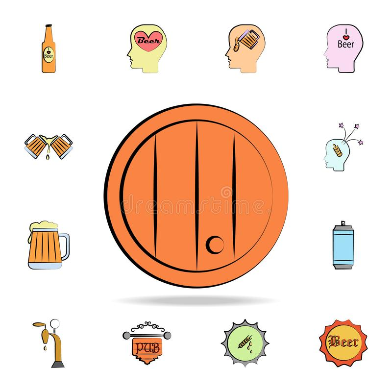 Beer Barrel colored sketch style icon. Detailed set of color beer in hand drawn style icons. Premium graphic design. One of the. Collection icons for websites stock illustration