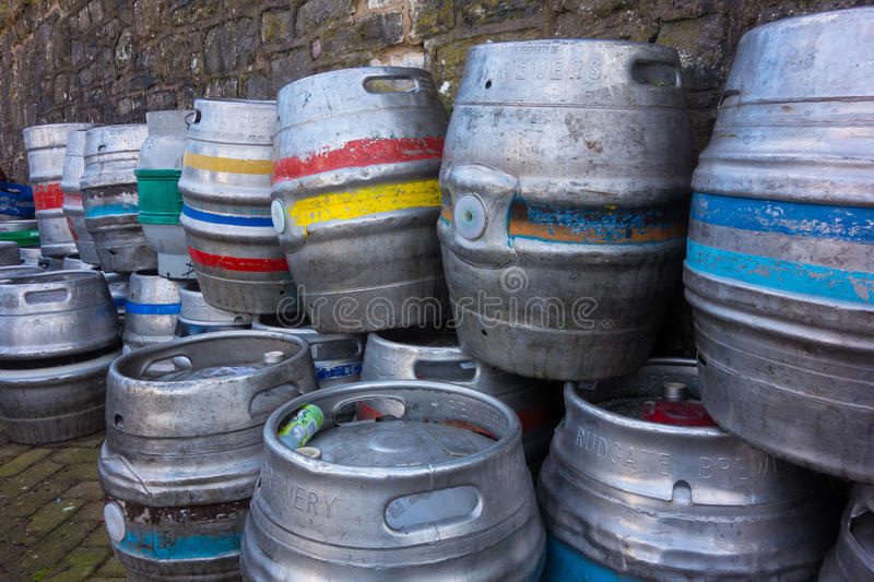 Beer barrels stock photos