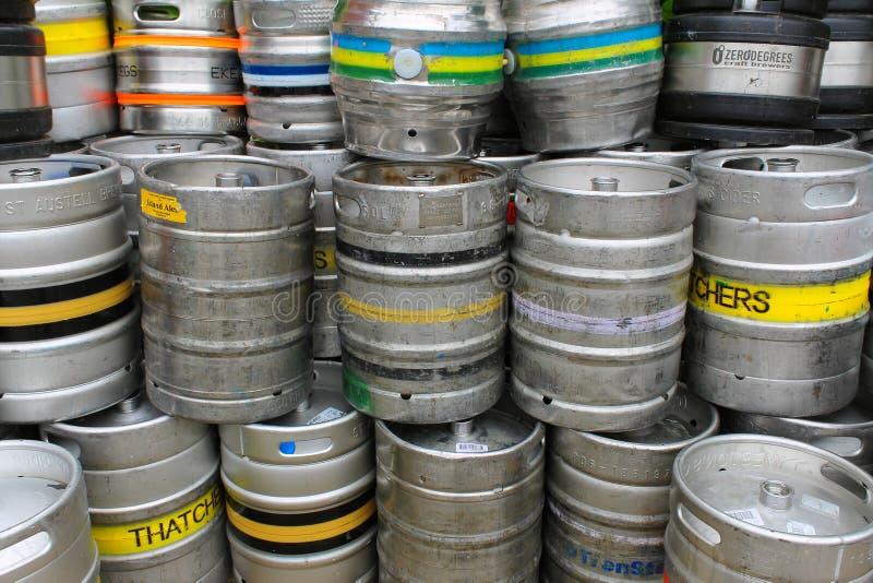 Beer barrels stock images
