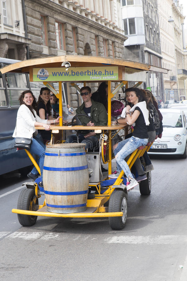 Beer bike stock images