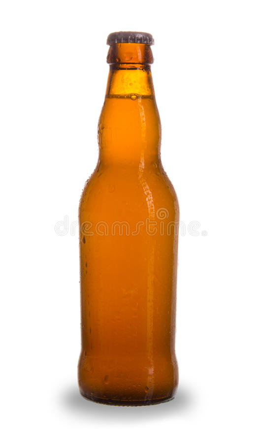 Beer bottle. Bottle of beer, isolated on white background stock image