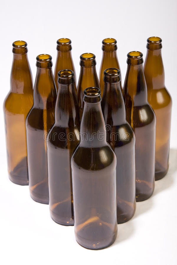 Beer Bottle Bowling royalty free stock photo