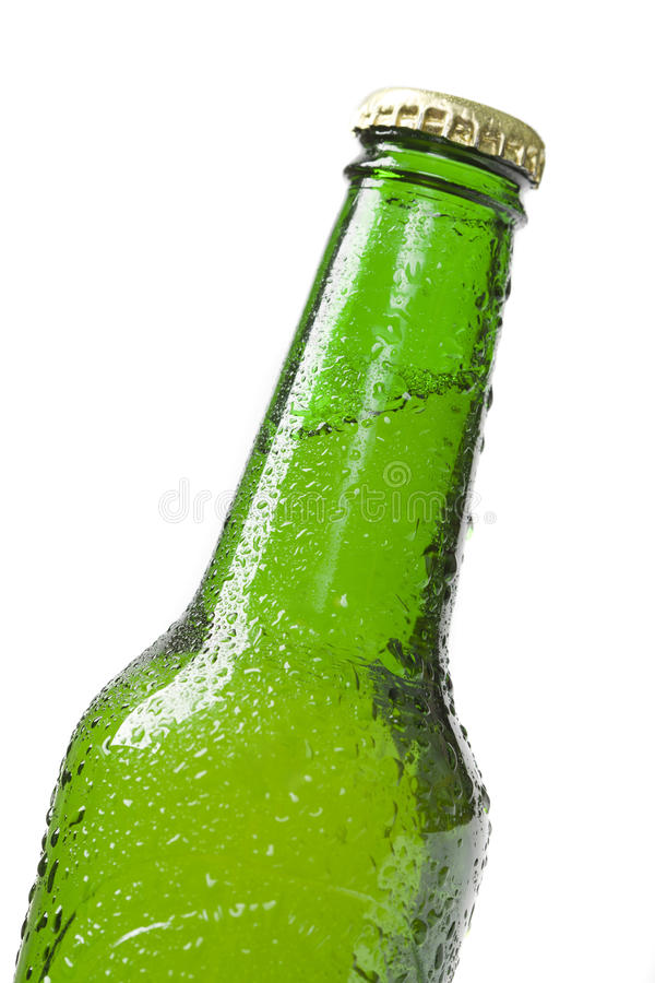Beer bottle close up royalty free stock photos