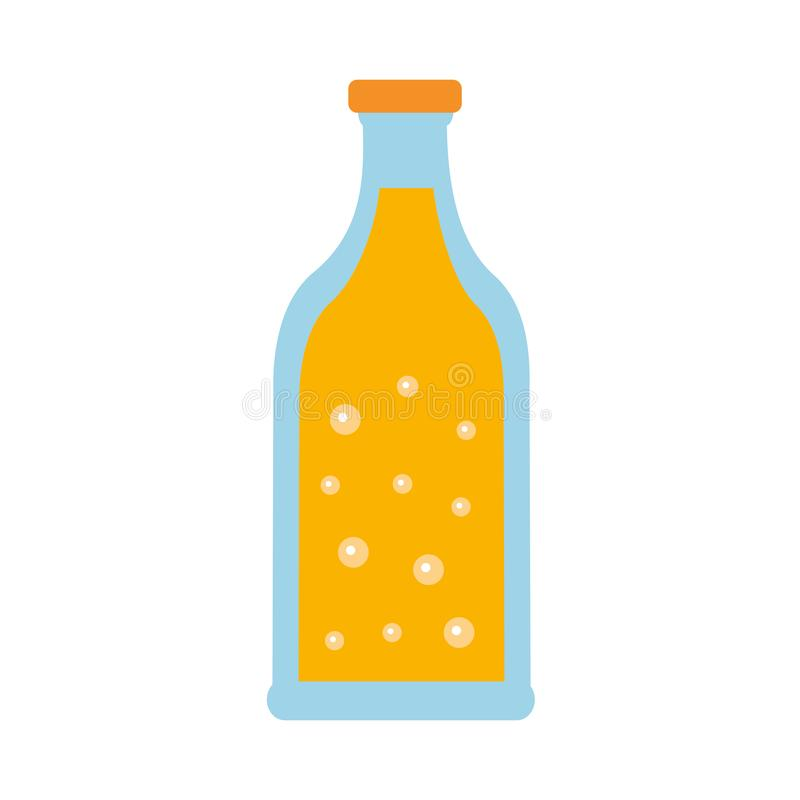 Beer bottle drink alcohol bubbles. Vector illustration royalty free illustration
