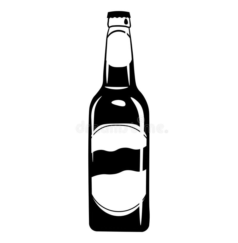 beer bottle icon alcohol drink vector illustration stock vector rh dreamstime com beer bottle vector png beer bottle vector png
