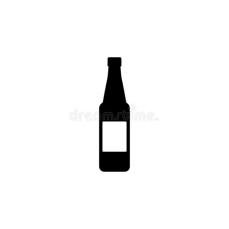 Beer bottle icon. Simple glyph vector of universal set icons for UI and UX, website or mobile application. On white background royalty free illustration
