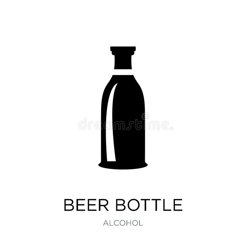 Beer bottle icon in trendy design style. beer bottle icon isolated on white background. beer bottle vector icon simple and modern. Flat symbol for web site stock illustration