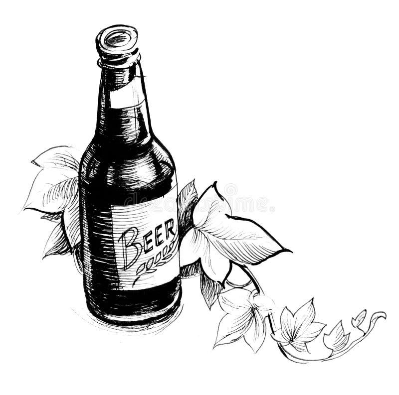 Beer bottle royalty free illustration