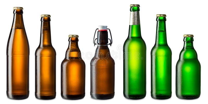 Beer bottle set royalty free stock image
