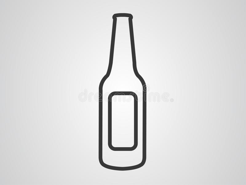 Bottle vector icon sign symbol vector illustration