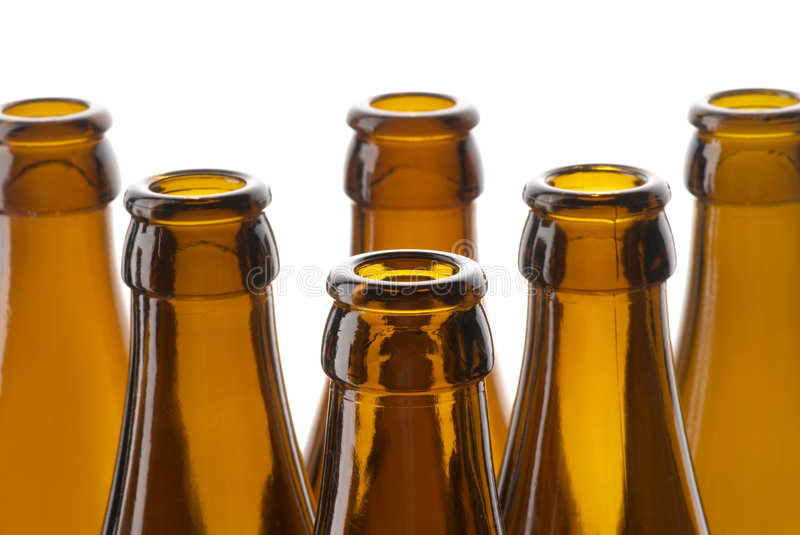 Beer bottles neck royalty free stock photography