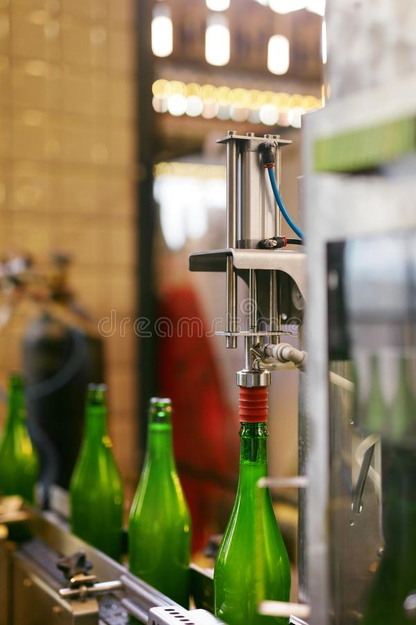 Beer Brewery. Craft Beer Manufacturing Process royalty free stock photo