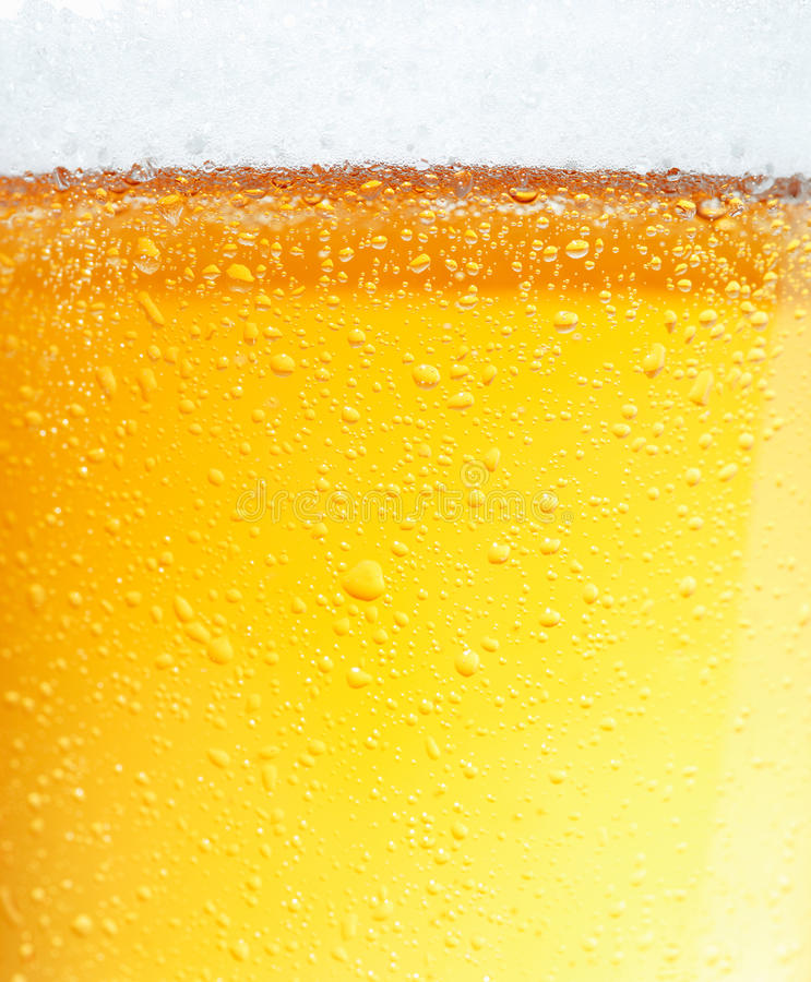 Beer with Bubbles. stock photos