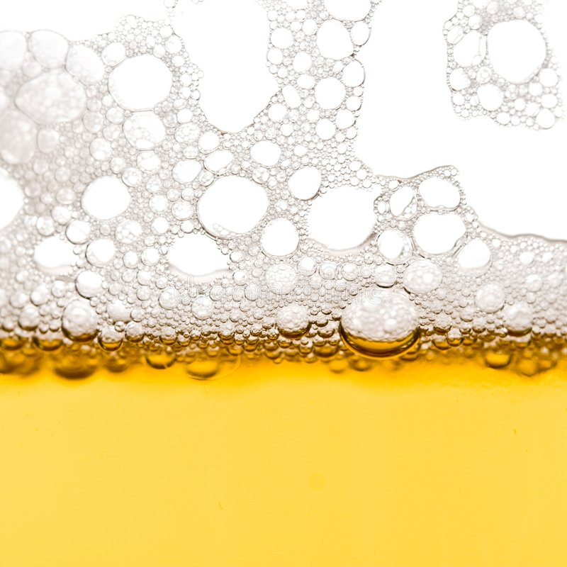 Beer bubbles stock photography