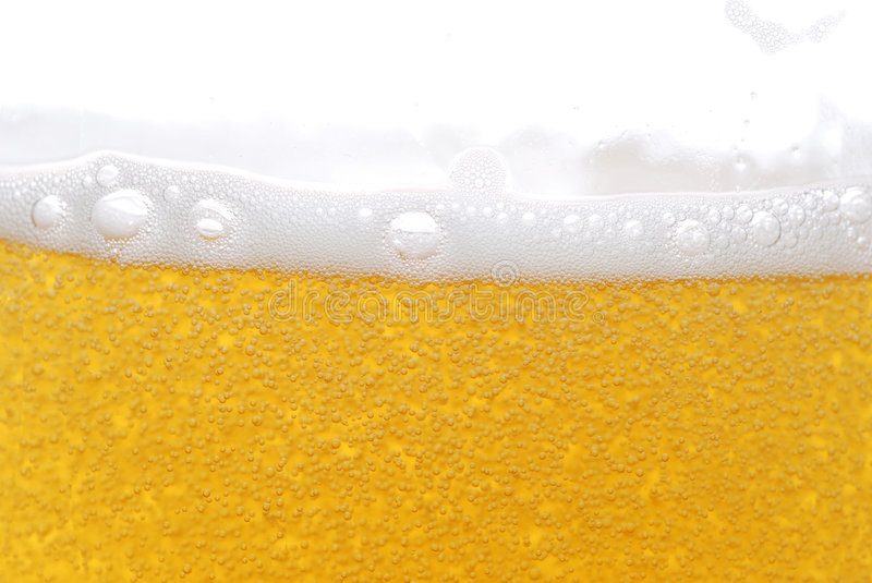 Beer with bubbles royalty free stock image