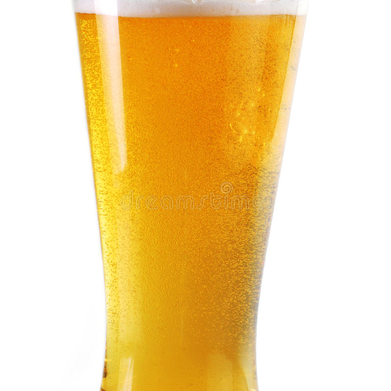 Beer with bubbles royalty free stock images