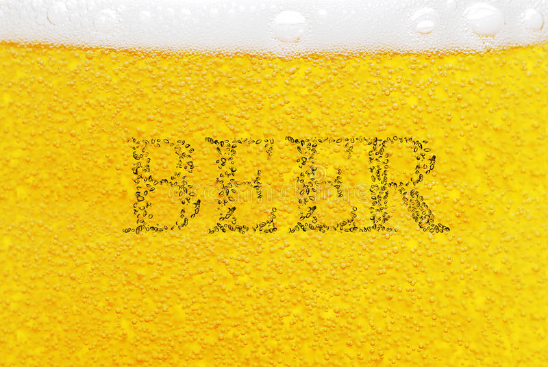 Beer with bubbles stock photo