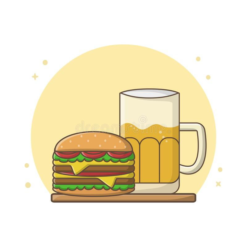 Beer Burger Stock Illustrations 4 149 Beer Burger Stock Illustrations Vectors Clipart Dreamstime