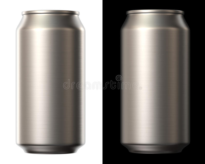 Beer can stock illustration