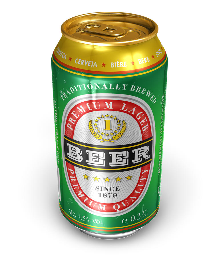 Beer can royalty free illustration