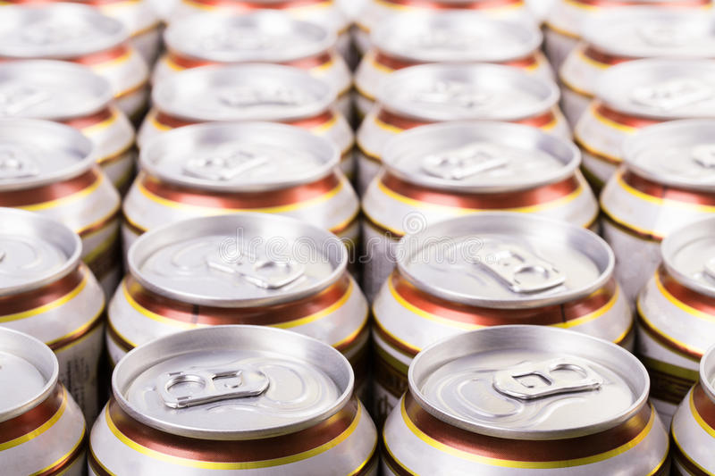 Beer can. Complete closure of the close-up stock images
