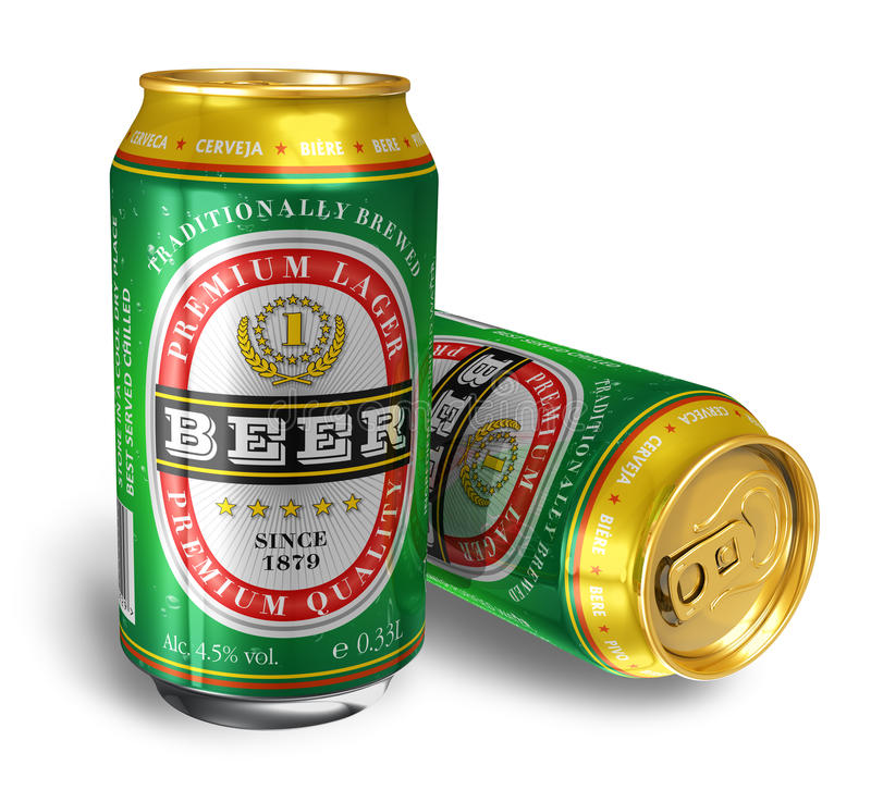 Beer cans stock illustration