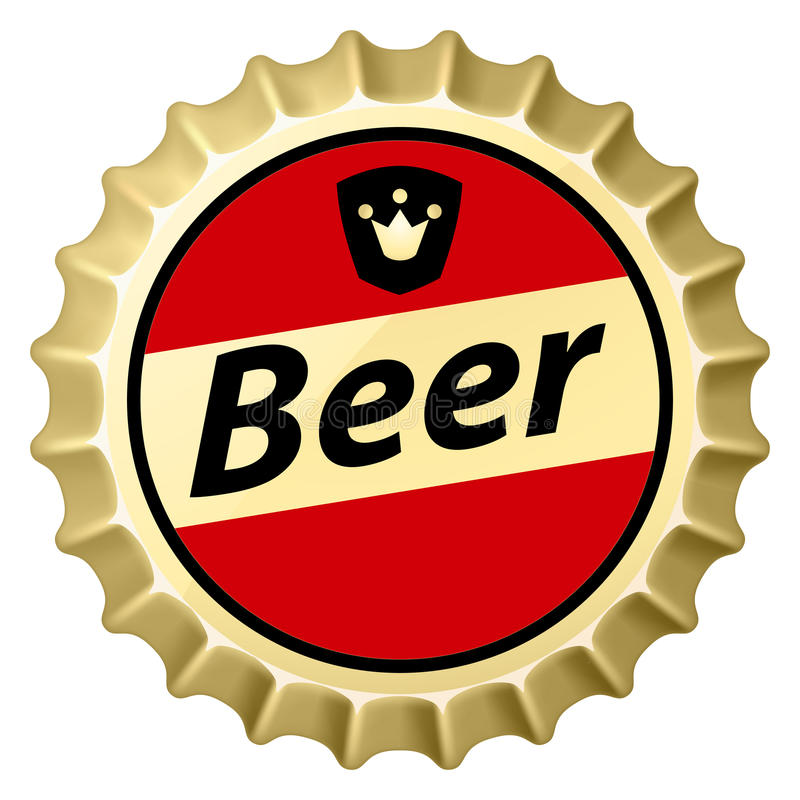 Beer cap stock illustration