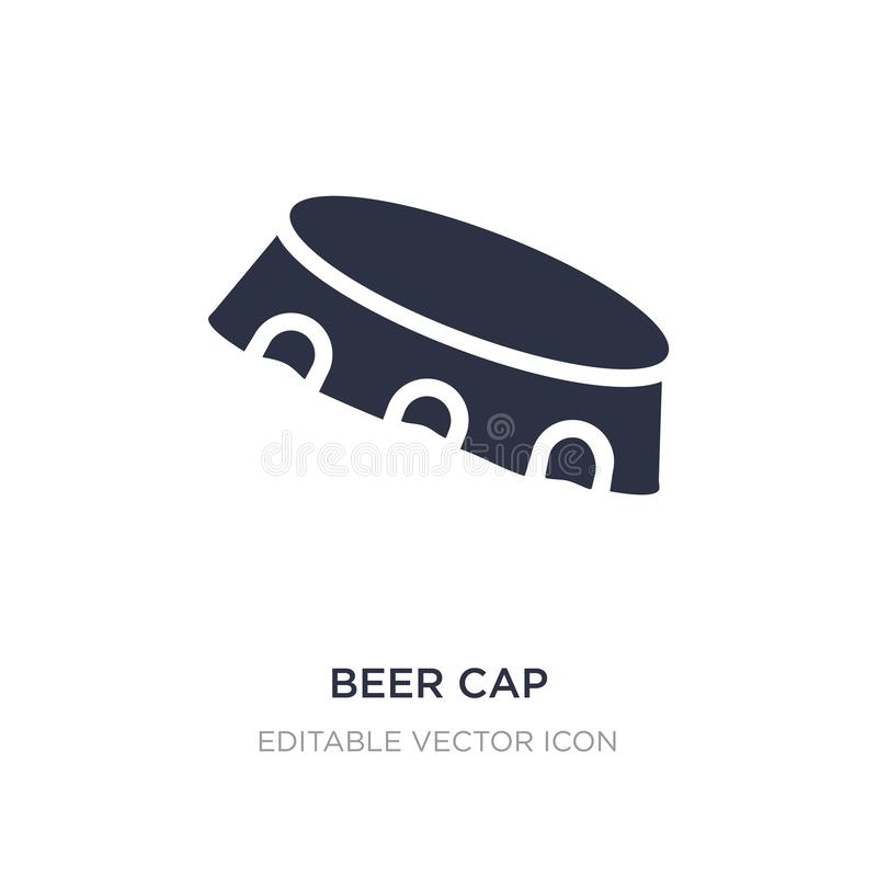 beer cap icon on white background. Simple element illustration from Miscellaneous concept stock illustration