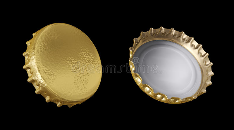 Beer caps 3d model vector illustration