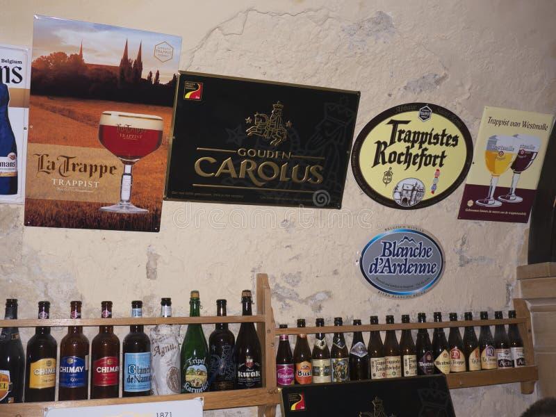 Beer Cellar in Budapest Hungary. Belgian Beer cellar and restaurant in Budapest Hungary stock photography